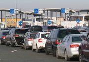 Aglomeraţie în punctele de trecere a frontierei/ La Nădlac, maşinile aşteaptă 240 de minute pentru intrarea în România