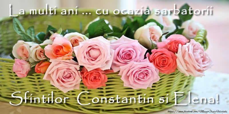 La multi ani de Sf Constantin si Elena 2020