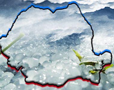 VIDEO | Sudul ţării, albit de gheaţă