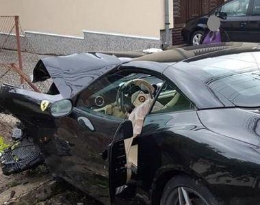 Accident teribil în Alba: un bolid de 200.000 de euro s-a făcut praf