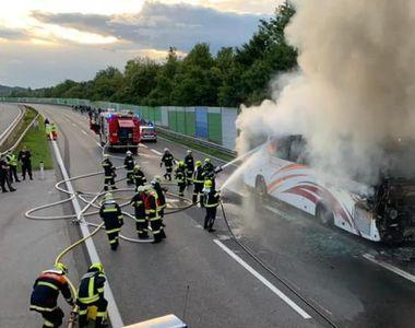 Un autocar cu români a luat foc în Austria. Anunțul făcut de MAE