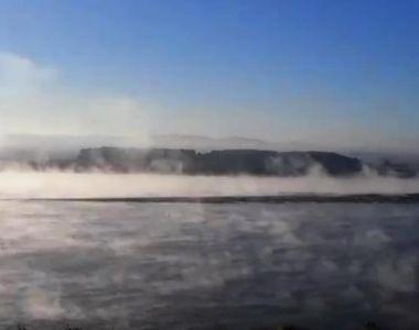 "Fenomen rar întâlnit! A ""fiert"" Dunărea"