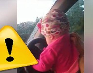 VIDEO | La un an, pusă la volan