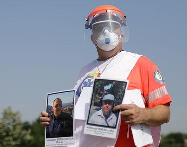 Proteste ale angajaţilor de la Ambulanţă în Bucureşti şi în celelalte oraşe din ţară