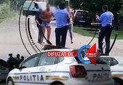 VIDEO| Doi polițiști din Gorj, umiliți cu arma-n mână. La un pas să fie linșați de doi agresori turbați de furie