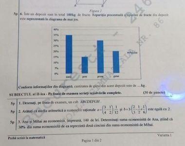 Subiecte EDU.ro 2020 Matematică - Evaluare Naţională: Cât fac 60 - 20 : 2=?