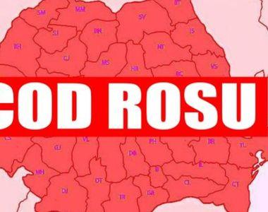 Cod roşu de precipitaţii în judeţele Timiş şi Caraş - Severin