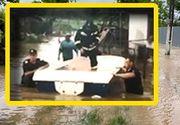 VIDEO  Salvați din calea apelor. Imagini dramatice