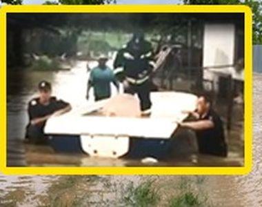 VIDEO| Salvați din calea apelor. Imagini dramatice