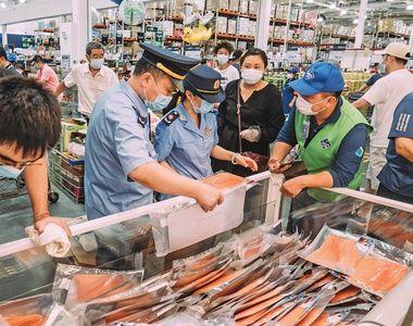 China a descoperit că sectoarele pentru carne şi fructe de mare ale pieţii angro de...