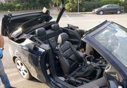 O tânără și-a prins capul în sistemul de decapotare al mașinii