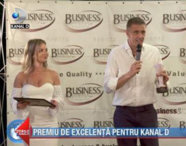 VIDEO  Premiu de excelență pentru Kanal D