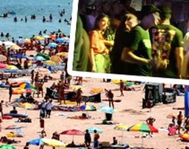 VIDEO| Regulile nu sunt respectate! Umăr la umăr, pe litoral