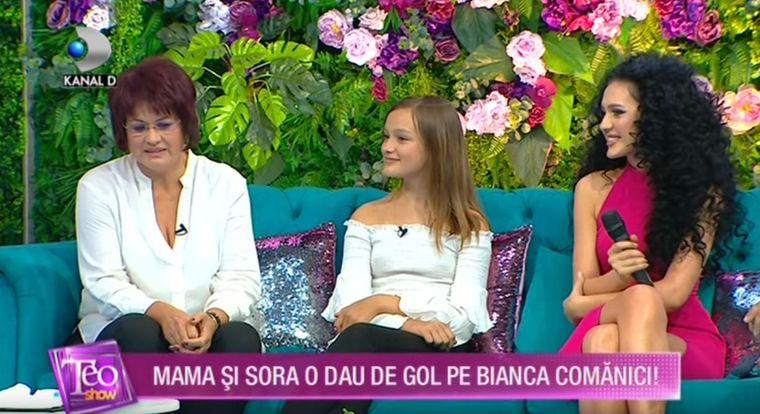 Bianca Comănici, mama şi sora ei, la Teo Show