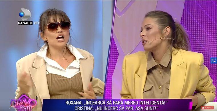 Cristina Șișcanu și Roxana Nemeș, scandal nemaiîntâlnit, chiar în fața telespectatorilor!