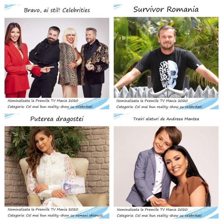 Emisiuni nominalizare la Premiile TV Mania 2020