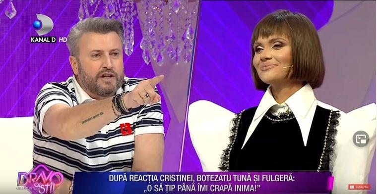 Cătălin Botezatu evervat la culme de către Cristina Șișcanu
