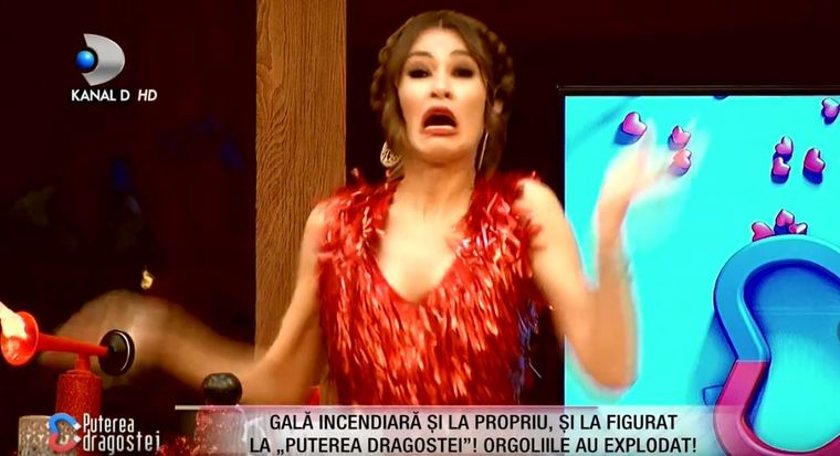 Cristina Mihaela a luat FOC în platoul emisiunii Puterea dragostei!