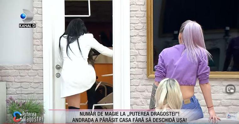 """Andrada a părăsit emisiunea """"Puterea Dragostei"""", după ce a spart ușa!"""