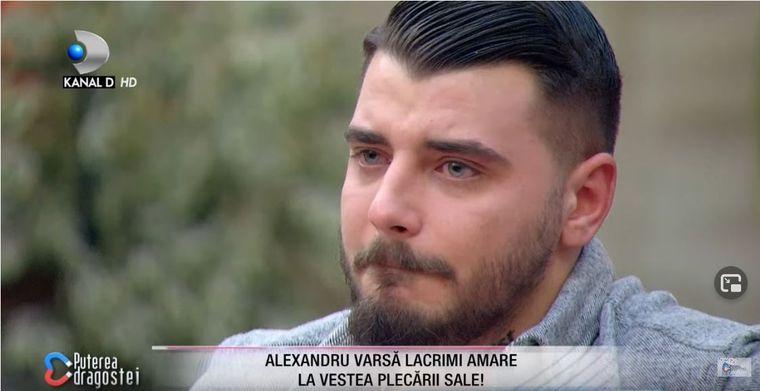 Alexandru a părăsit emisiunea Puterea Dragostei, cu ochii în lacrimi!