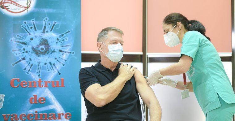 Klaus Iohannis s-a vaccinat anticoronavirus