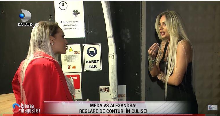 """Meda a părăsit platoul emisunii Puterea Dragostei după ce a detonat bomba! """"Alexandra este încă îndrăgostită de Nicos"""""""