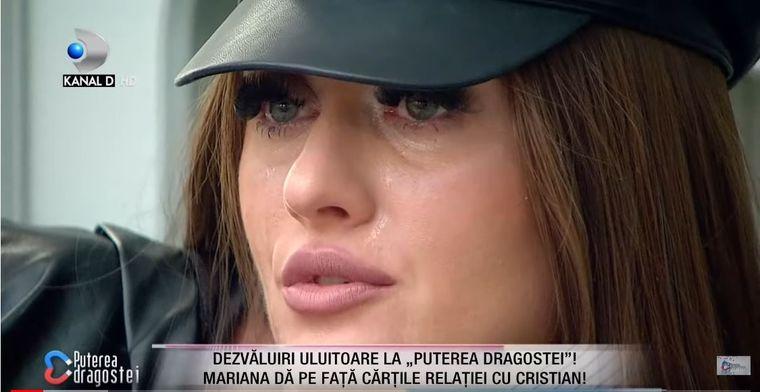 Mariana a plâns în hohote! Cristian Comanici vrea să părăsească emisiunea Puterea Dragostei!