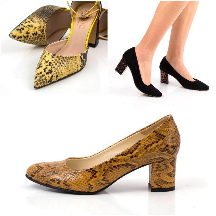Adori pantofii de dama din piele cu insertii animal print? Designerii te invata cum sa-i asortezi!
