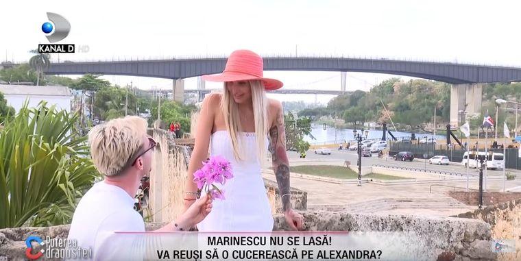 """Cristian Marinescu a îngenuncheat în fața Alexandrei, de la Puterea Dragostei! """"Vreau să fiu cu tine!"""""""