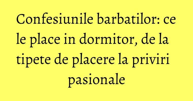 Confesiunile barbatilor: ce le place in dormitor, de la tipete de placere la priviri pasionale