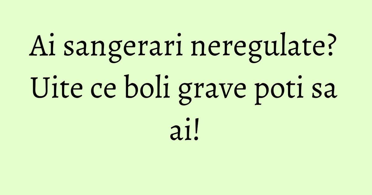Menopauza singerari neregulate mult timp cauza