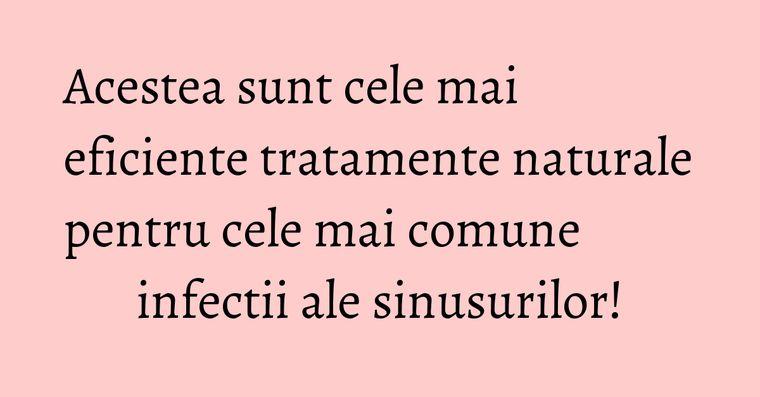 Acestea sunt cele mai eficiente tratamente naturale pentru cele mai comune infectii ale sinusurilor!