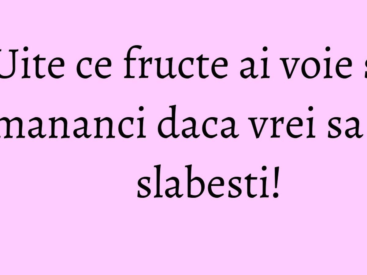 fructe care slabesc burta)