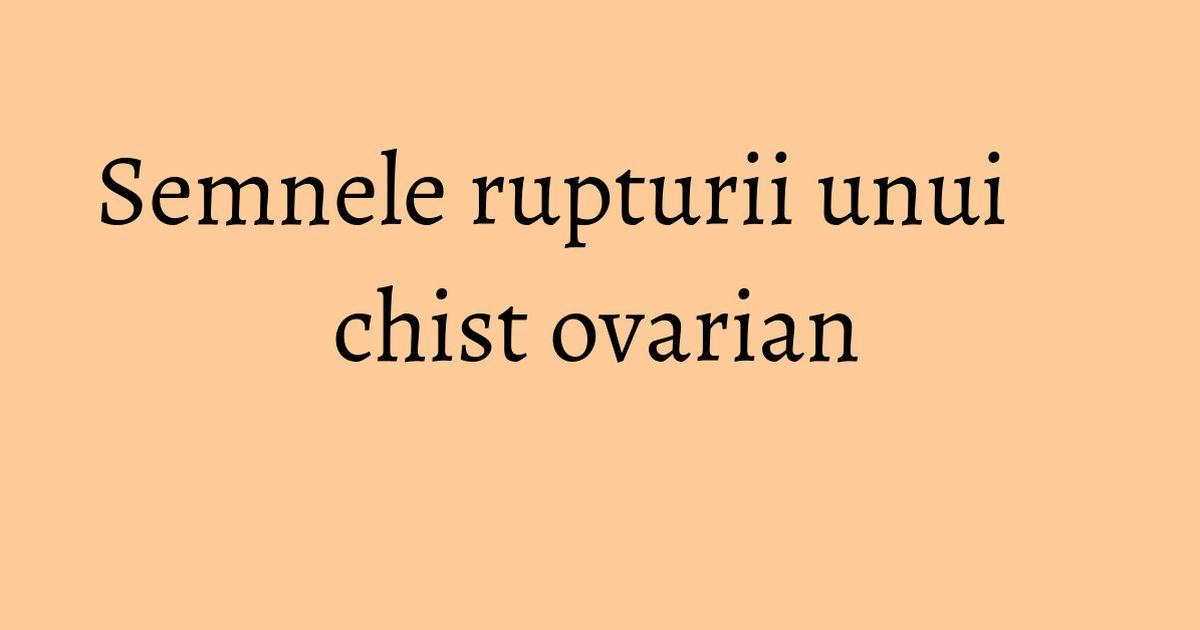 Chist ovarian sangerari in menopauza