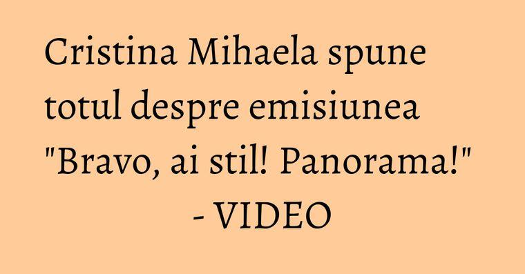 Cristina Mihaela spune totul despre emisiunea