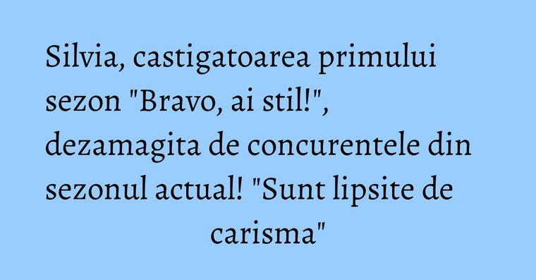 Silvia, castigatoarea primului sezon