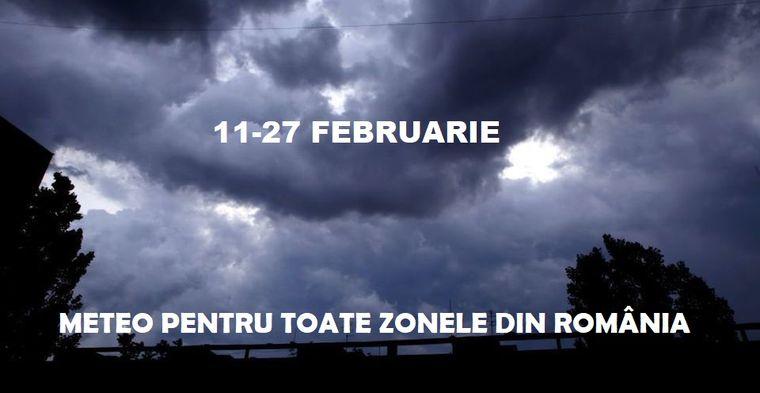 Vremea 11-27 februarie în toate zonele din România