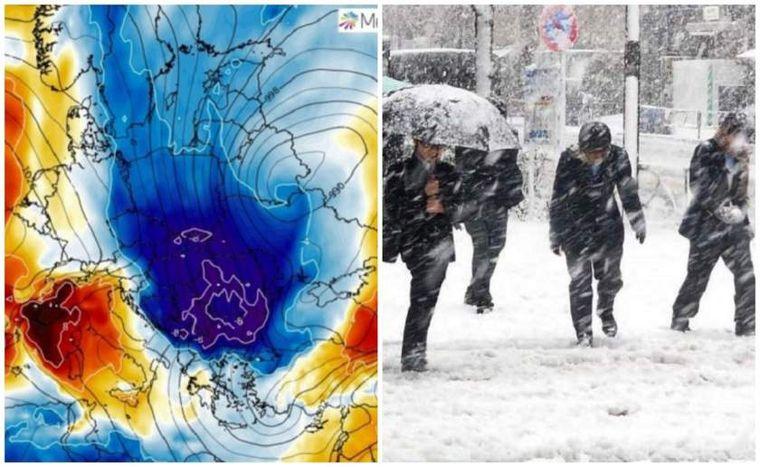 ALERTĂ METEO: Val de aer arctic, ploi torenţiale, vijelii, grindină şi ninsori la munte în următoarele TREI ZILE
