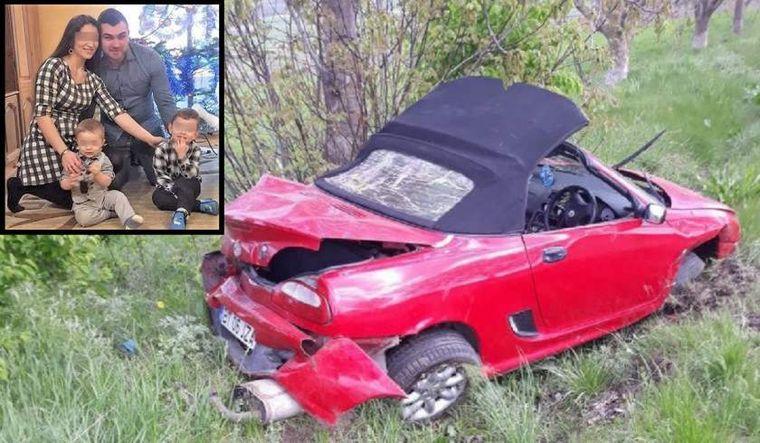 Dinu, un tânăr de 25 de ani, a murit pe loc, aruncat prin plafonul decapotabilei
