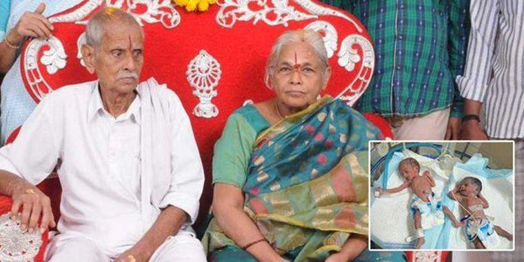 RECORD:  O indiancă a devenit cea mai în vârstă femeie din lume care a născut gemeni. Vârsta pe care o are e un miracol al medicinei moderne! VIDEO