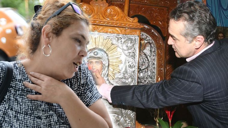 Scene halucinante la Pipera!  Ioana Tufaru l-a urmărit pe Gigi Becali la biserică şi l-a implorat să o ajute! Doamne, ce s-a întâmplat acolo!
