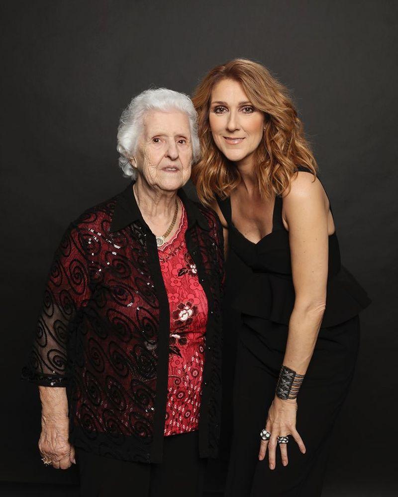 Celine Dion și mama sa