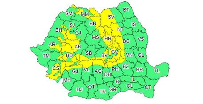 Ninsorile vor lovi România! Avertizare de polei și chiciură.