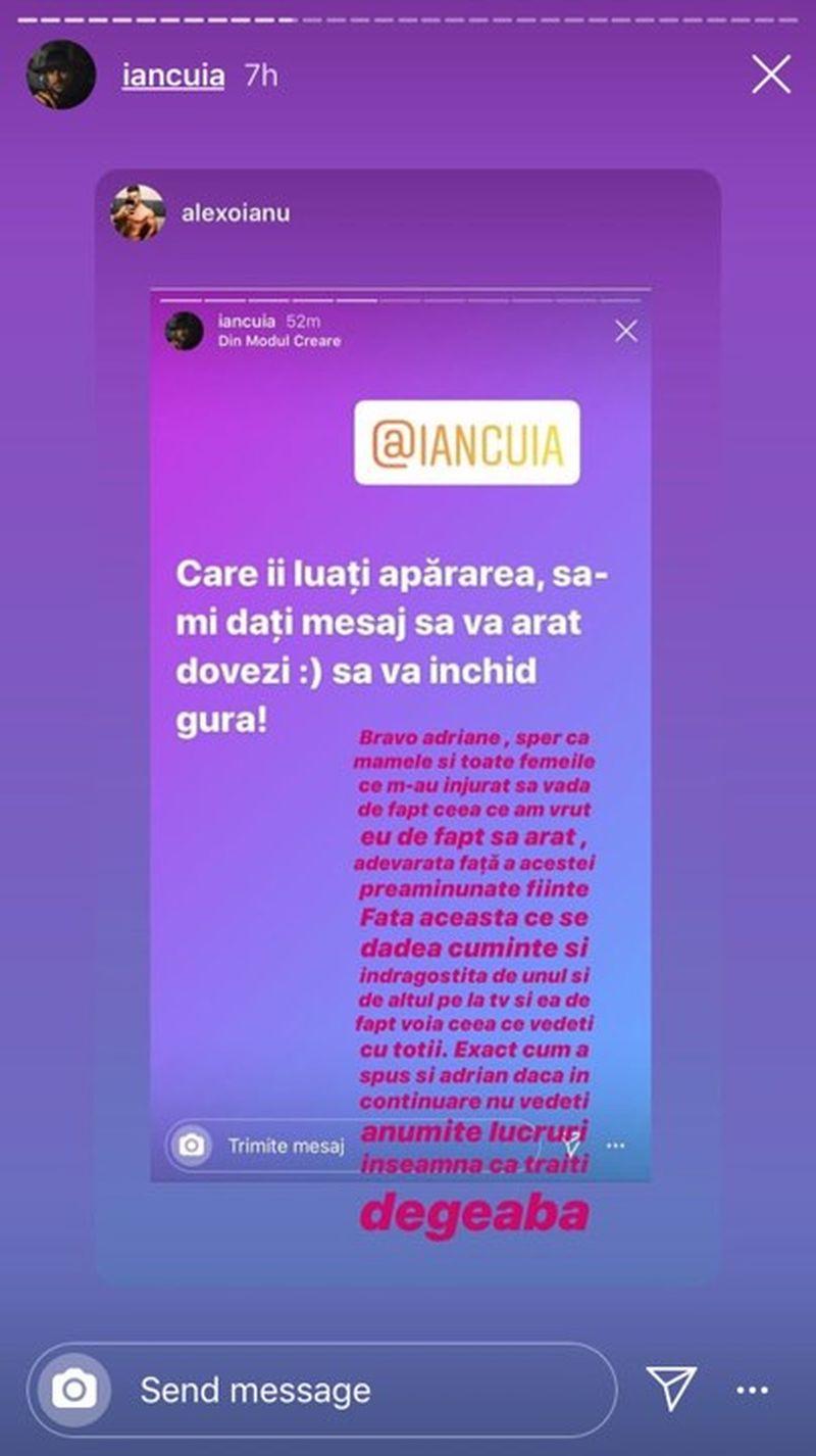 Alex Oianu mesaj
