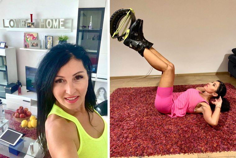 Kinga Sebestyen- exerciții pentru a arde 800 de calorii pe oră