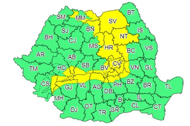 Agenția Națională de Meteorologie. Specialiștii ANM- cod galben