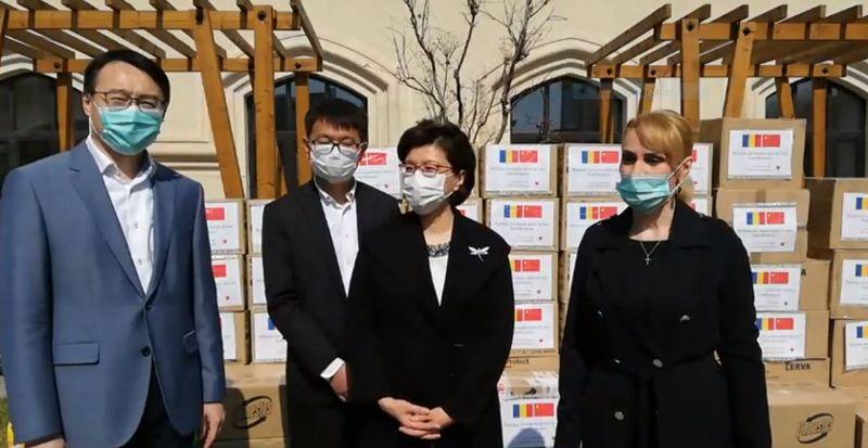 Ambasada Chinei de la București- ajutor pentru spitalele din Capitală