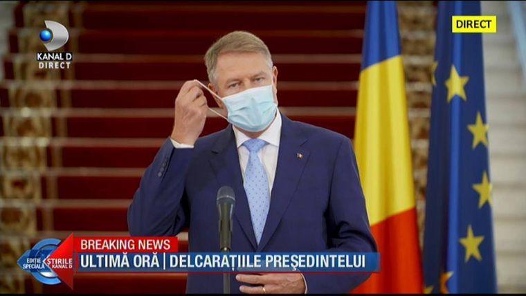 ULTIMĂ ORĂ! Klaus Iohannis, mai multe restricții: