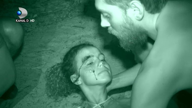 Clipe de groaza! Razboinica Ema de la Survivor, gasita plina de sange