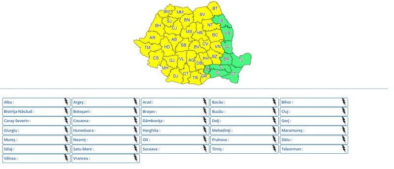 Cod roșu de furtuni în România! Care sunt localitățile vizate